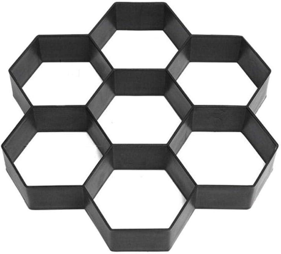 Ceepko DIY Hexagon Path Floor Mould Maker Durable Reusable Paver Convenient And Time Saving For Concrete Molds Stone Stepping Cement Floor Brick Garden Patio Lawn