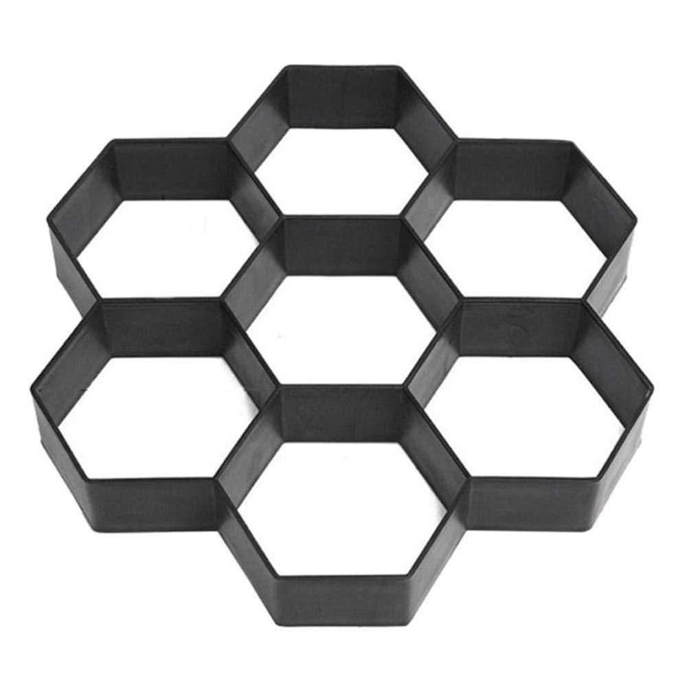 11.4x11.4 Paver Molds for Concrete DIY Reusable Garden Pavement Path Maker Mold Manually Stepping Cement Brick Stone Road Concrete Pathmate Mould