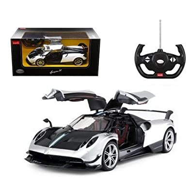 1/14 Scale Pagani Huayra BC Radio Remote Control Model Car R/C RTR Open Doors (White/Black): Toys & Games