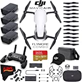 DJI Mavic Air Fly More Combo (Arctic White) + Extra DJI Intelligent Flight Battery for Mavic Air + Landing Gear Leg Extensions + SanDisk Extreme 64GB Class 10 U3 microSDXC Memory Card Accessory Bundle