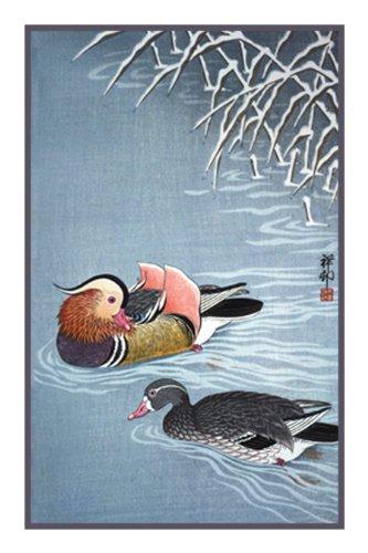 Orenco Originals Mandarin Ducks Ohara Shoson Counted Cross Stitch Pattern