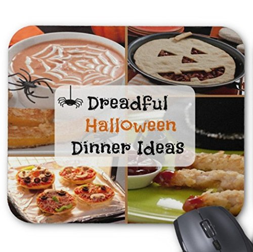 Gaming Mouse Pad Dreadful Halloween Dinner Ideas Design Desktop and Laptop 1 Pack 22x18cm/7x8.66inch