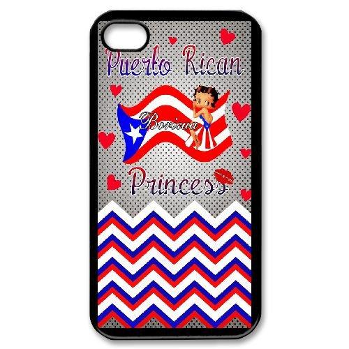 iPhone 4 4s Cell Phone Case Black Cartoon Stars Betty Boop Case Cover 7UI553962