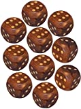 Pack of 10 Indian Handmade Wooden Dice(Goti) Gifts Board Game