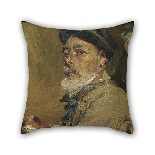 Artistdecor 16 X 16 Inches / 40 By 40 Cm Oil Painting Francesc Gimeno - Self-portrait With Cap Pillow Covers ,each Side Ornament And Gift To Car,bedroom,girls,boys,teens Boys,gril Friend (Wicker Lights Pumpkin With)