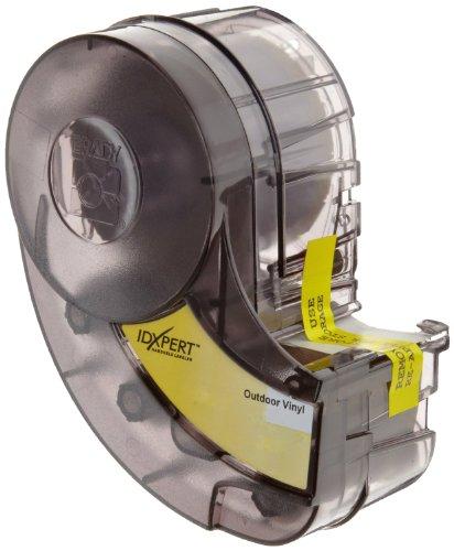 Brady XC-500-595-CL-BK IDXPERT & LABXPERT Labels  B-595 Indoor/Outdoor Vinyl Film Black on Clear, Printable Area: 19.000