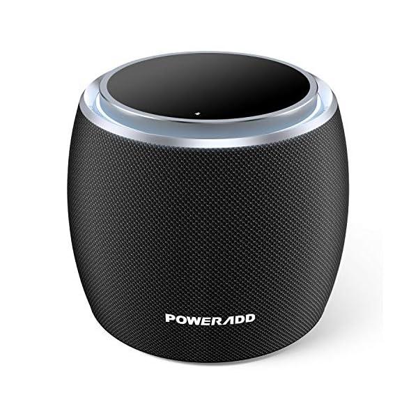 POWERADD Enceinte Bluetooth Portable, 36W Basse Performant avec 4 Pilotes Intégrés, 4000mAh Grande Capacité, Volume Rotatif, Musique de 12H pour Intérieur/Extérieur 1
