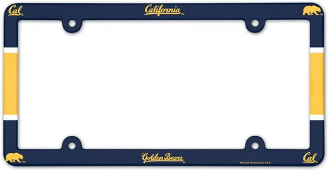 WinCraft California Golden Bears UC Berkeley Plastic License Plate Frame
