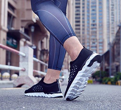 NEOKER Scarpe Sportive Running Scarpe da Uomo Nero 39-44