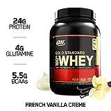 OPTIMUM NUTRITION GOLD STANDARD 100% Whey Protein Powder, French Vanilla Creme, 2 Pound