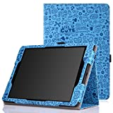 Google Nexus 9 Case - MoKo Slim Folding Cover Case for Google Nexus 9 8.9 inch Volantis Flounder Android 5.0 Lollipop tablet by HTC, Cutie Charm BLUE(With Smart Cover Auto Wake / Sleep Feature)