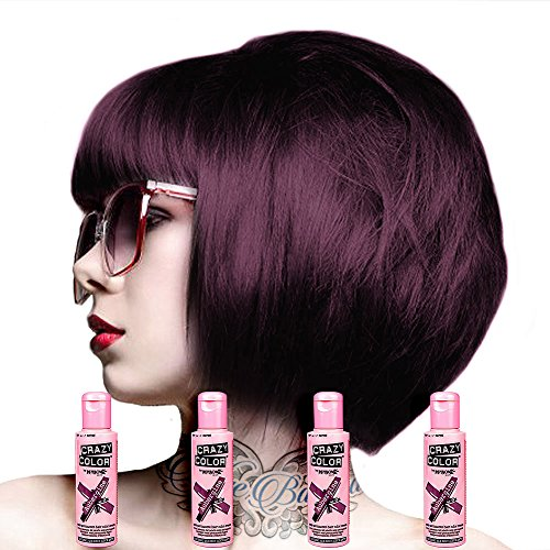 🥇 Crazy Colour Semi Permanent Hair Dye By Renbow Aubergine No.50