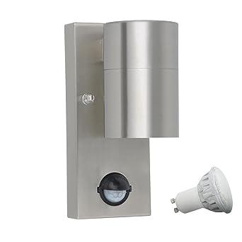 Led Wand Leuchte Sensor Außen Lampe Bewegungsmelder Edelstahl