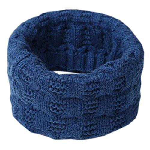 プレビュー耐えられない追うユニセックスベビーファッションウォームソフトスカーフニットカラースカーフネッカーコフネックウォーマー、ブルー#1
