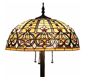Tiffany Style Stained Glass Floor Lamp U0026quot;Grandueru0026quot; ...