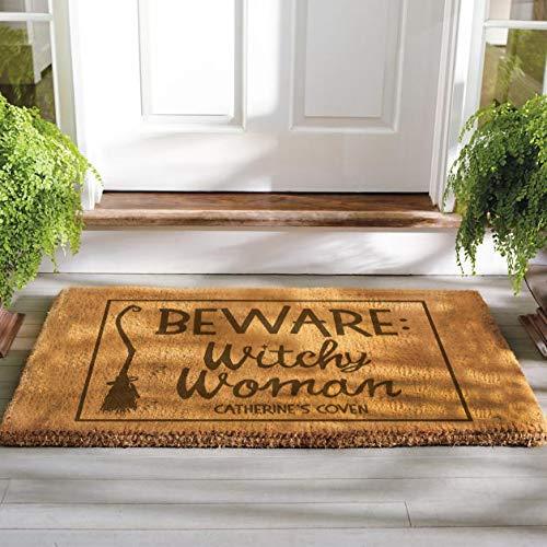 Funny Personalized Outdoor/Indoor Halloween Doormat Decor