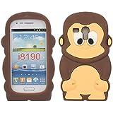 SKS Distribution® Marron Silicone Singe Monkey Etui Coque Housse Pour Samsung Galaxy S3 SIII Mini i8190
