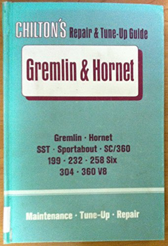 1970-71 Gremlin & Hornet Repair & Tune-up Shop Manual Guide by Chilton