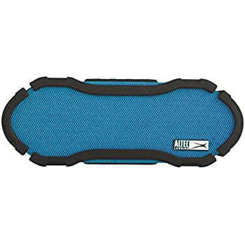 Altec Lansing IMW778-BLU OmniJacket Ultra OmniDirectional Wireless Waterproof Bluetooth Speaker with Handsfree Calling, 50 ft Wireless Range, 60 Hours of Battery Life, and Stereo Pairing, Blue