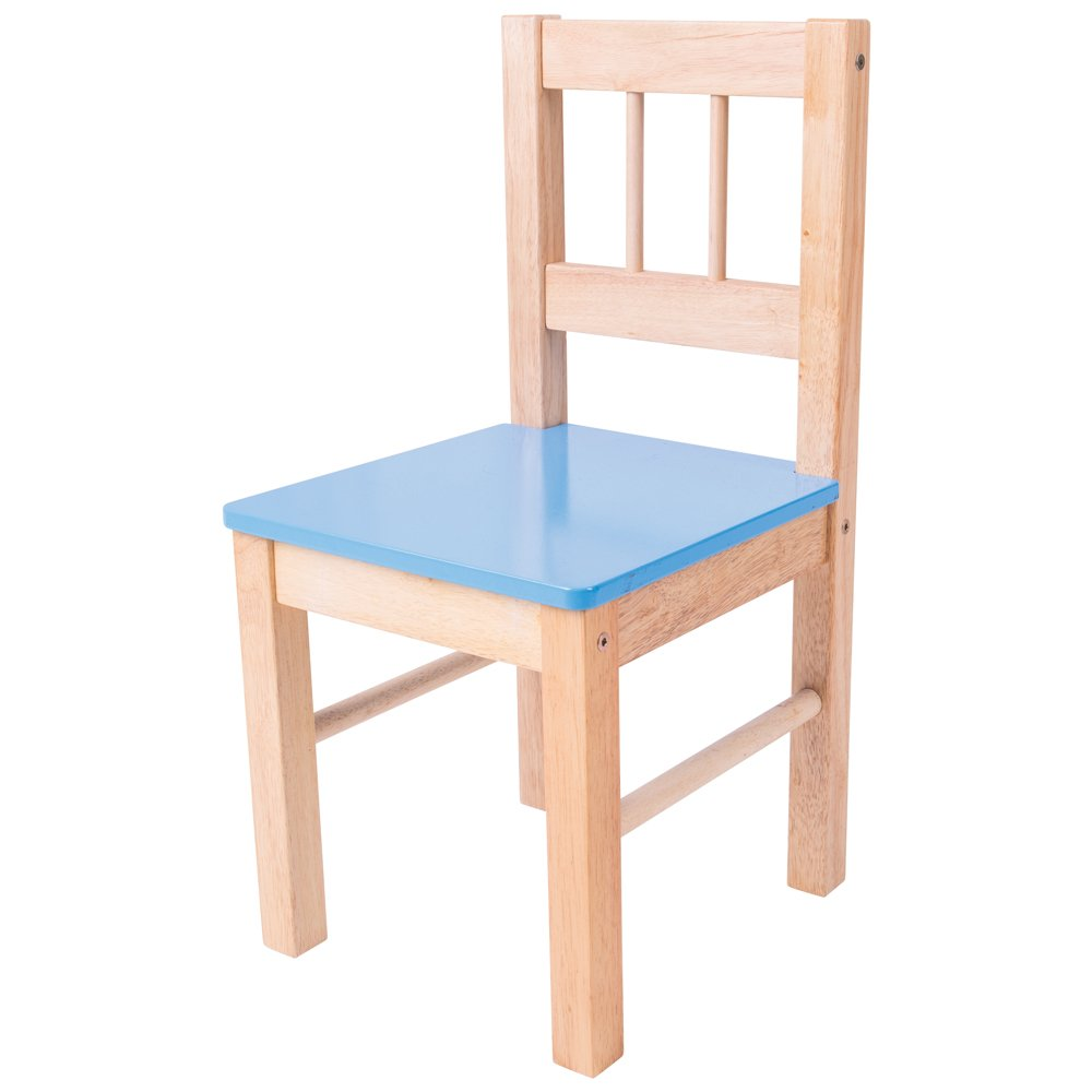 Bigjigs Toys Children's Wooden Blue Chair - Bedroom Furniture and Accessories 691621022511