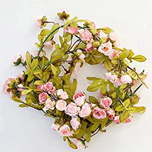Artificial & Dried Flowers - 72 Heads Roses Artificial Flowers With Green Leaves Hanging Garland Silk Decoration Wholesale P - Flowers Artificial Dried 1