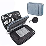 Kootek 2 Layer Electronics Organizer with 59 Inch Cable Tie, Universal Electronic Accessories Travel Case Storage Bag with for Kindle, Power Bank, Phone, USB Cables Cords Charger