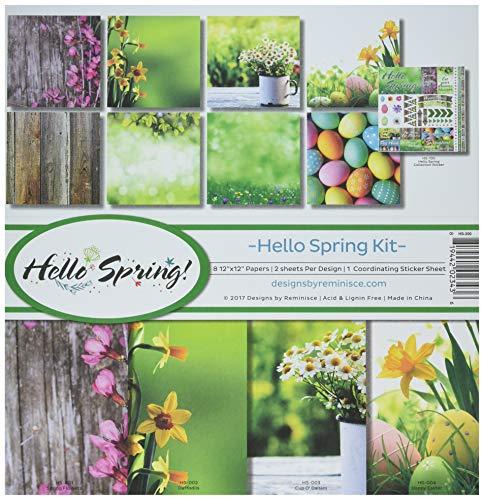 Reminisce (REMBC) HS-200 Hello Spring Scrapbook Collection Kit Multicolor ()