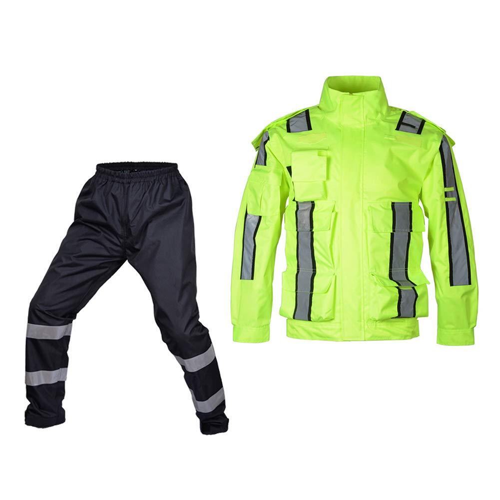 Meijunter Verkehr Steuerung Wasserdicht Uniform Hoch Sichtweite Regen Anzug Reflektierend Regenbekleidung Behalten Trocken Regenmantel Hose