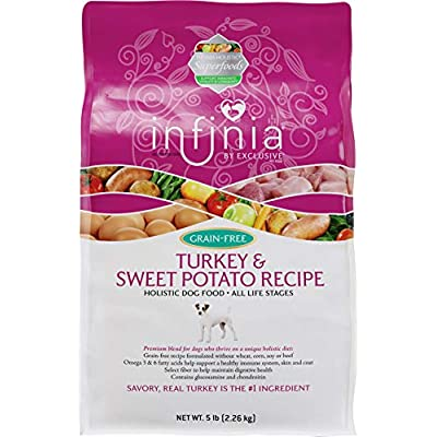 Infinia | Turkey and Sweet Potato Grain-Free Adult Dog Food | Nutritionally Complete - 5 Pound (5 lb) Bag