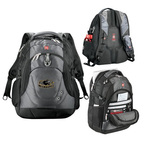 Wisconsin Milwaukee Wenger Swiss Army Tech Charcoal Compu Backpack 'Official Logo' by CollegeFanGear