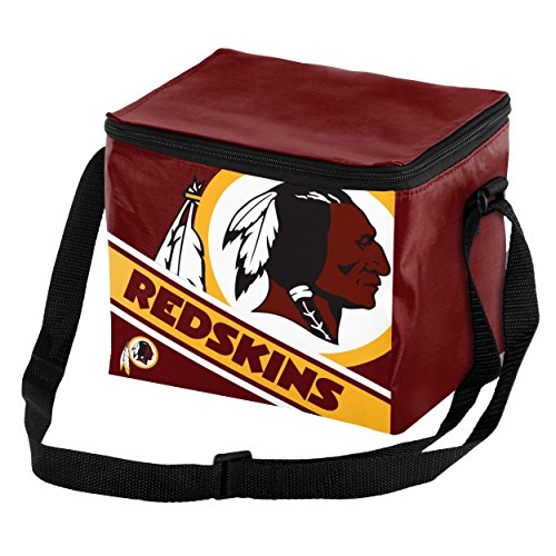 Washington Redskins Big Logo Stripe 6 Pack Cooler