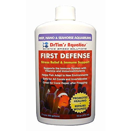 DrTim's Aquatics First Defense Stress Relief & Immune Support for Reef & Nano Aquariums, 8 oz/128 oz - Aquatics First Defense Reef