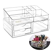 Amazon Lightning Deal 74% claimed: PIXNOR Makeup Organizer Large Capacity Storage Box for Jewelry & Cosmetics