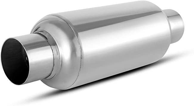 "Outlet Muffler Silencer Straight-through Perforated High Performance 3/"" Inlet"