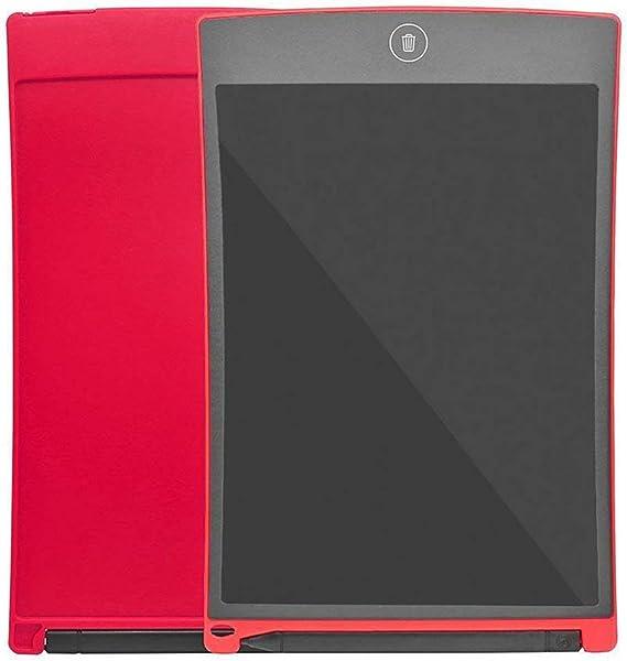 Sianding ポータブルカラースクリーンLCDライティングタブレット8.5インチLCD子描画手書きパッドグラフィティライティングボード-レッド&ファインペン