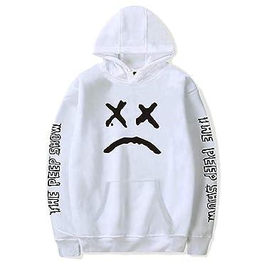 en soldes 43dee bb971 PZJ Unisexe Sweat à Capuche, Lil Peep Hip Hop Pull à Capuche Homme Femme  Imprimé Sweatshirts Manches Longues Sweater Sportif Tops