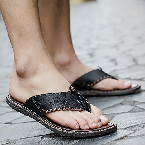 Flip Moda Pantofole Sandali Usura Flop Sandali RB1605 Estate Sandali Sandals Uomo black paw5IFxW