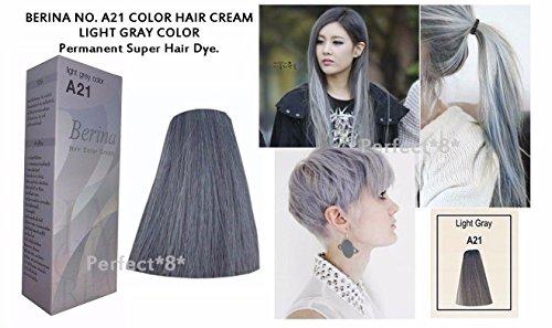 Amazon Com Berina No A21 Light Gray Grey Ash Color Hair Cream