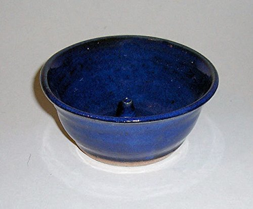 ''ABC Products '' - Hand Made Clay - Apple Baking Bowl - One Of A Kind Design - With A Fast Baking Spike - That Bakes Evenly - (Kobalt Blue Color -Glazed Finish - Made In America) by dist by classyjacs (Image #2)