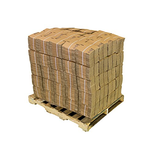 Pratt PRA0001PLT Recycled Corrugated Cardboard Single Wall Standard Cube Box with C Flute, 4'' Length x 4'' Width x 4'' Height (Pack of 2500) by Pratt