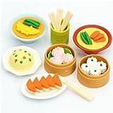 7 gommes Iwako en forme de Dim Sum chinoises