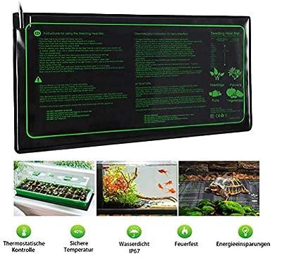 "TUDIO Durable Waterproof Seedling Heat Mat 48"" X 10"" Warm Hydroponic Heating Pad"