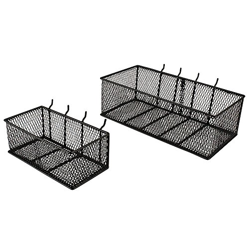Black Steel Mesh Peg Board Basket (Peg Basket)