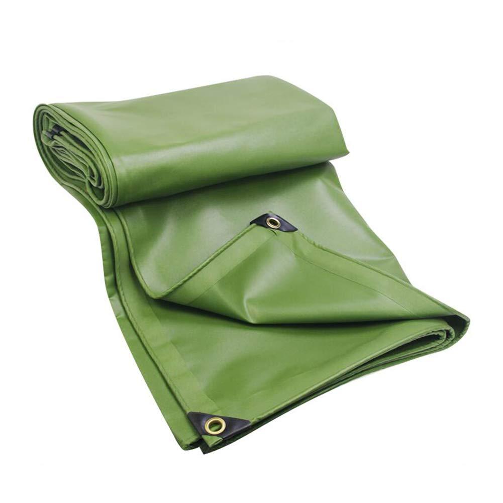 DALL ターポリン タープ アウトドア 日焼け止め 耐寒性 不凍液 防水 増粘 (色 : 緑, サイズ さいず : 4×5m) 4×5m 緑 B07KZSZJTW