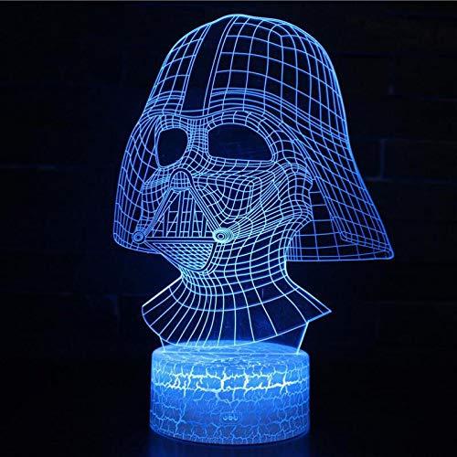 FaceToWind Lá mpara 3D Death Star War Darth Vader Stormtrooper Knight Led Table Night Light Cartoon Toy Luminaria