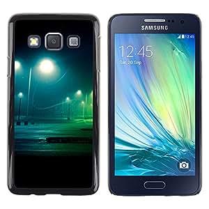 Noche Lote - Metal de aluminio y de plástico duro Caja del teléfono - Negro - Samsung Galaxy A3