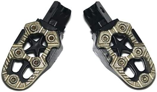 Color : Black Universal Aluminum Alloy Motorcycle Foot Peg Front Rider Footpegs Treadle for Soil Pit Bike Motorcycles Scooter Assembly Motorcycle Part