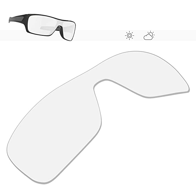 016d873dc6870 Glintbay 100% Precise-Fit Replacement Sunglass Lenses for Oakley Turbine  Rotor - Crystal Clear