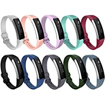 Fitbit Alta HR and Alta Bands, ULT-unite Colorful Adjustable Replacement Wristband for Fitbit Alta HR/ Fitbit Alta Bands(No tracker, Replacement Only)