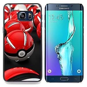 "Qstar Arte & diseño plástico duro Fundas Cover Cubre Hard Case Cover para Samsung Galaxy S6 Edge Plus / S6 Edge+ G928 (Red Poké Balls"")"